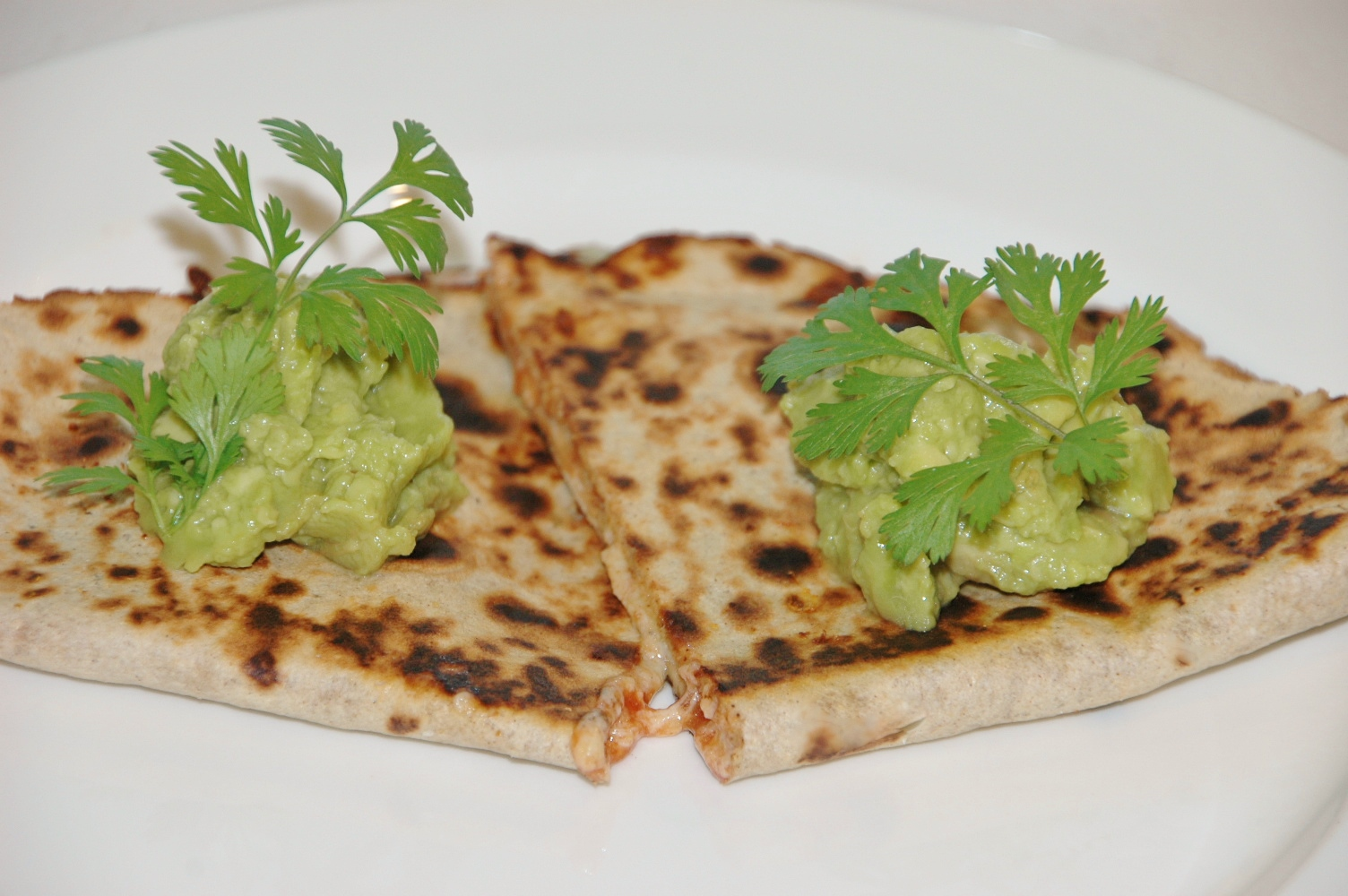 Cheese Quesadillas with Tomato Salsa and Guacamole | Healthy Home Cafe