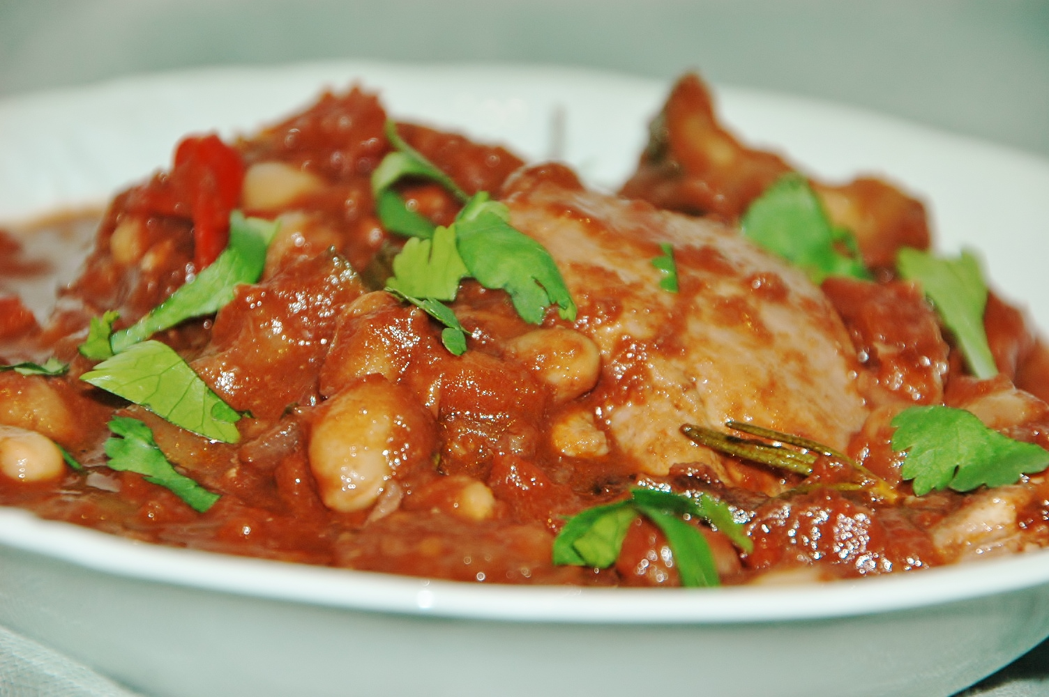 Quick Chicken Cacciatore with Cannelini Beans and Polenta | Healthy ...